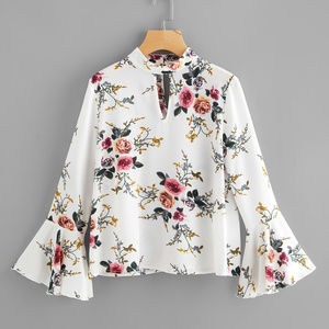 Tops - Fluted Sleeve Double Keyhole Top